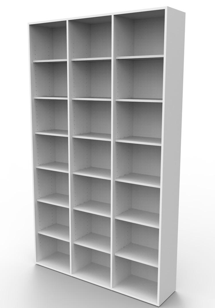 Estante biblioteca para livros 2010x1200x280 mm bookcase branca