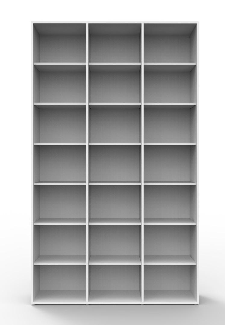 Estante biblioteca para livros 2030x1200x280 mm bookcase branca