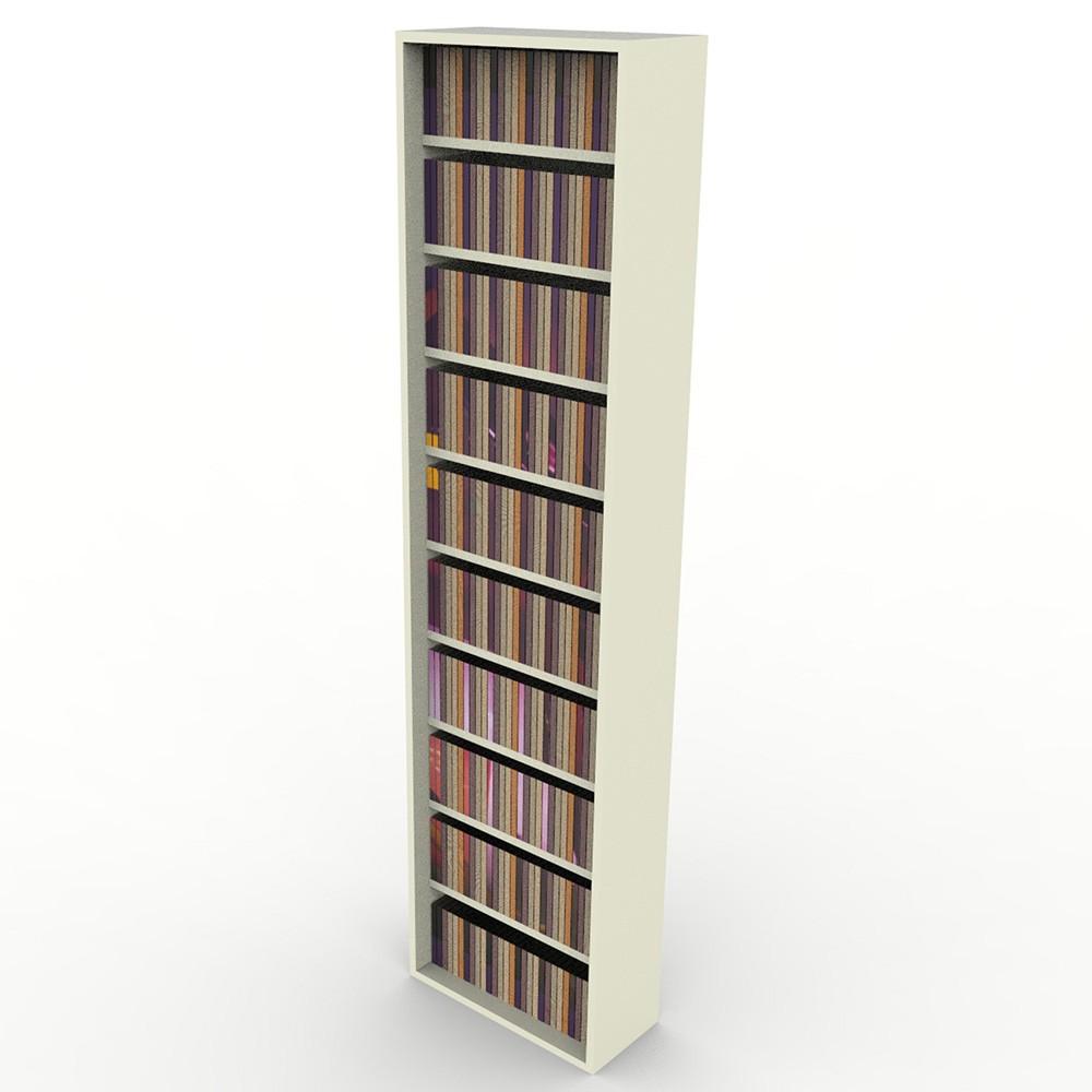 Estante CD/DVD/Blu-ray/Gibi 175 DVD/Blu-ray 340 CD Branco