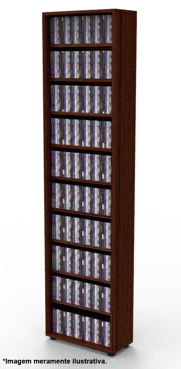 Estante CD/DVD/Blu-ray/Gibi 175 DVD/Blu-ray 340 CD Tabaco