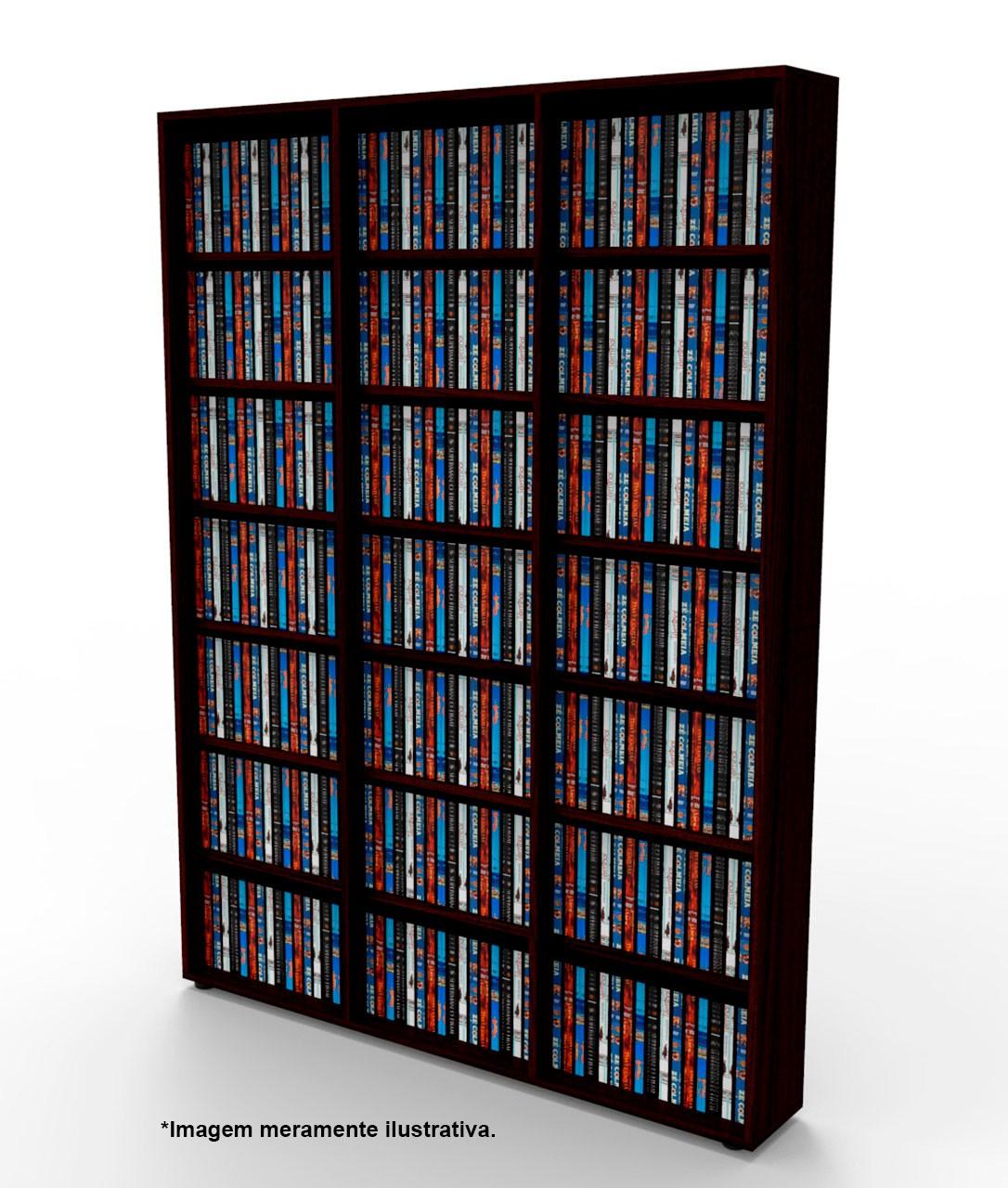 Estante CD/DVD/Blu-ray/Gibi 525 DVD/Blu-ray 1.020 CD Tabaco