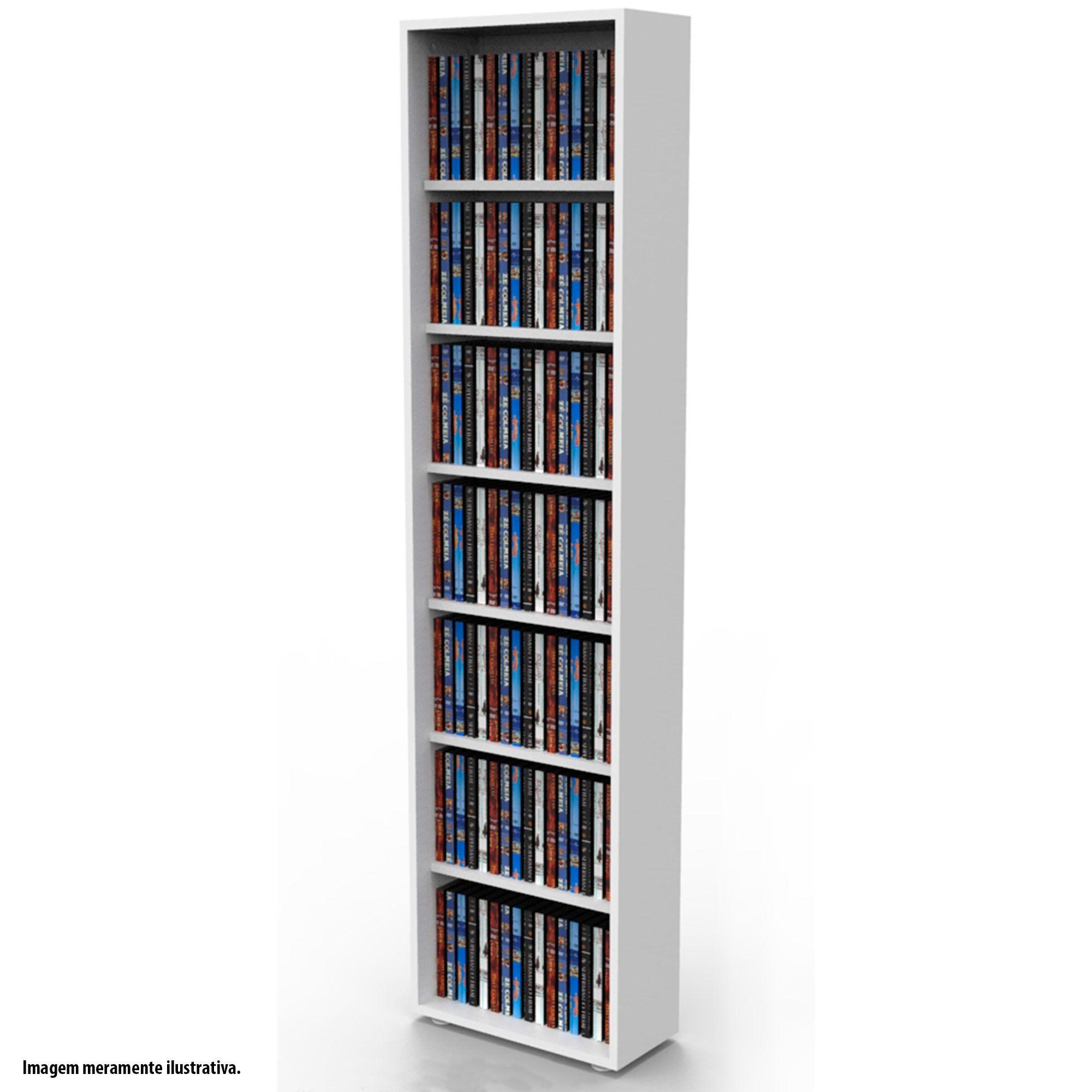 Estante para DVD Blu-ray 175 discos ou para gibis branca DV01BR Bürohaus