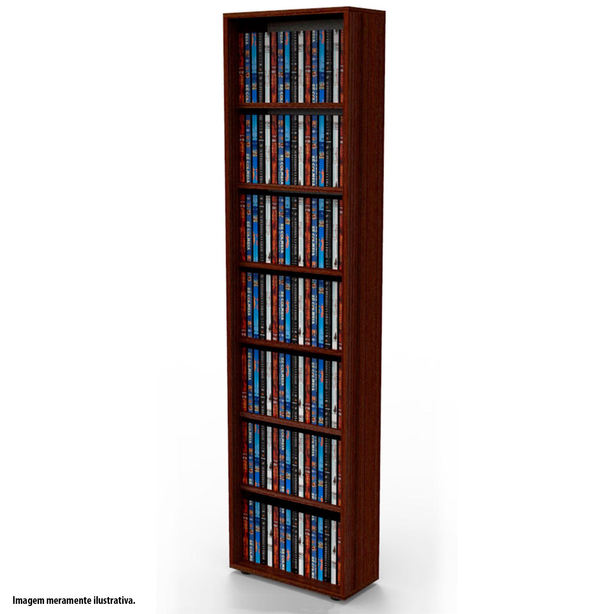 Estante para DVD Blu-ray 175 discos ou para gibis tabaco DV01TB Bürohaus