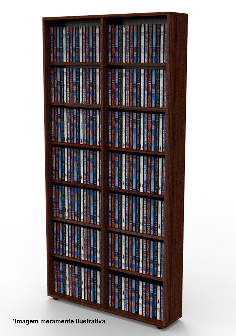 Estante para DVD Blu-ray 350 discos ou para gibis tabaco DV02TB Bürohaus