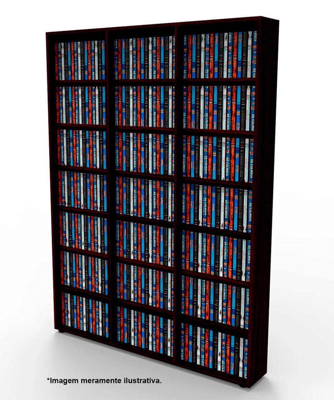 Estante para DVD Blu-ray 525 discos ou para gibis tabaco DV03TB Bürohaus
