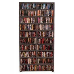 Estante para DVD/CD/Blu-ray/Gibi 350 DVDs/Blu-ray ou 680 CDs - Tabaco
