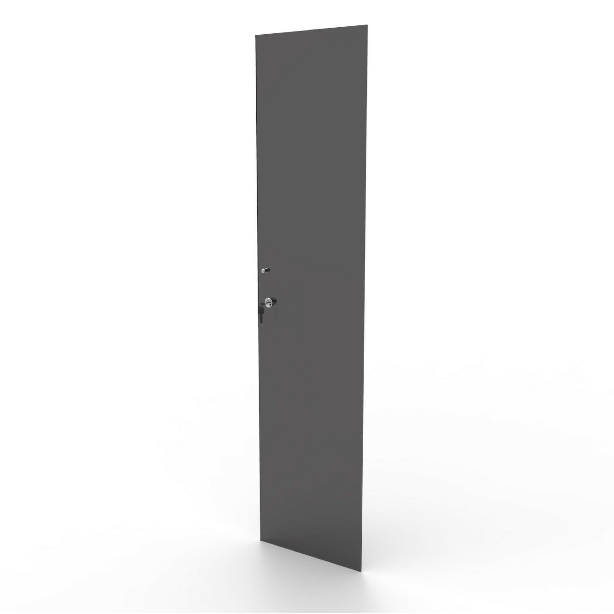 Porta de vidro fumê com chave para estantes das linhas CD e DV Bürohaus