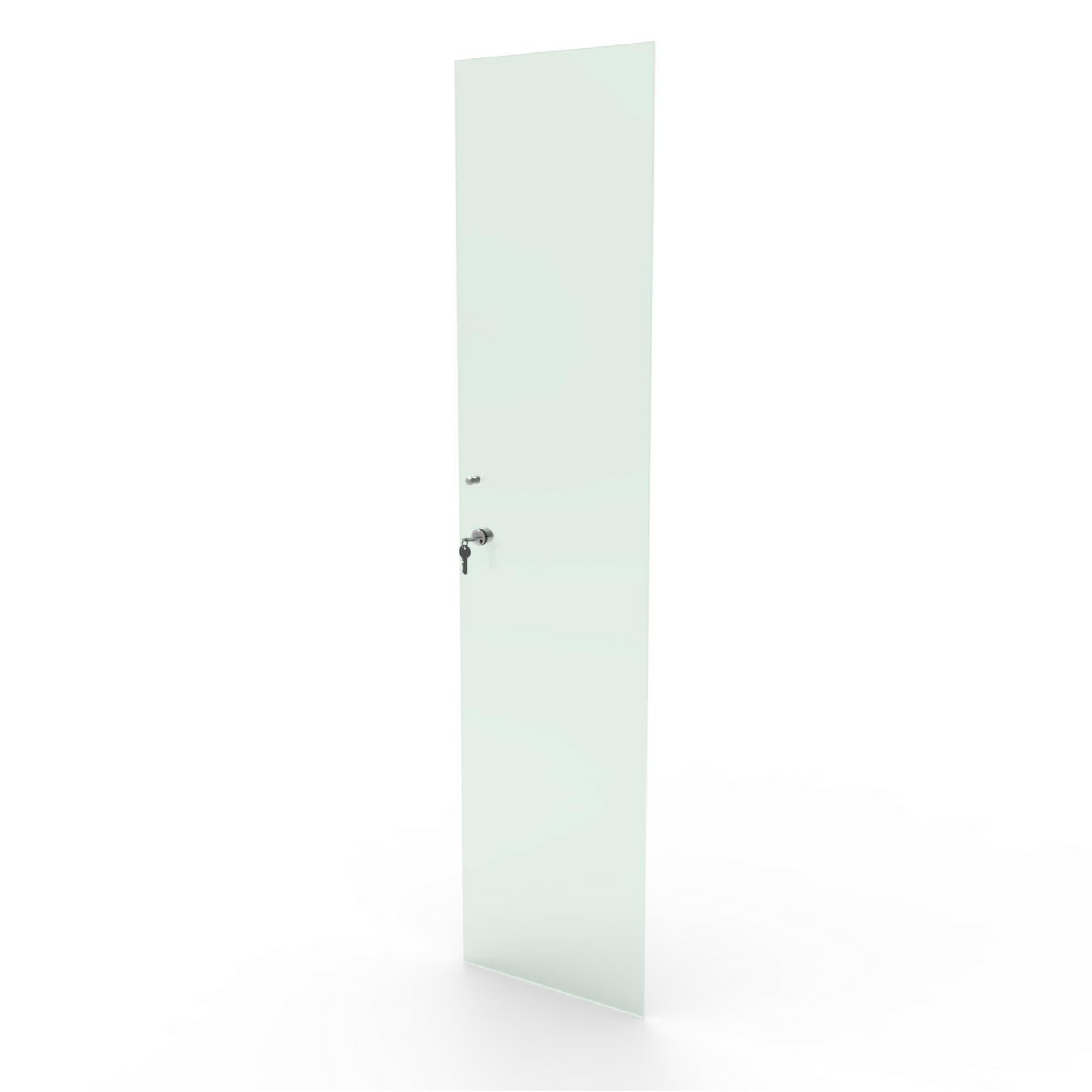 Porta de vidro incolor com chave para estantes das linhas CD e DV Bürohaus