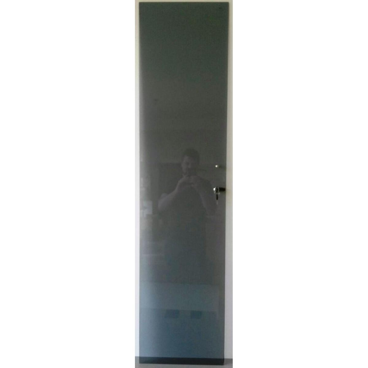 Porta Vidro Fumê com Chave para Estante CD/DVD/Blu-ray