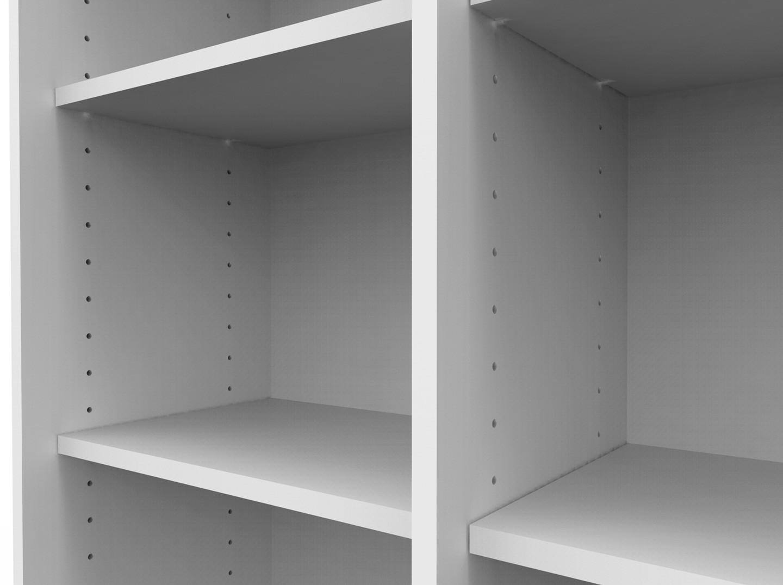 Prateleira BRANCA para estante BK bookcase - kit 6 UN