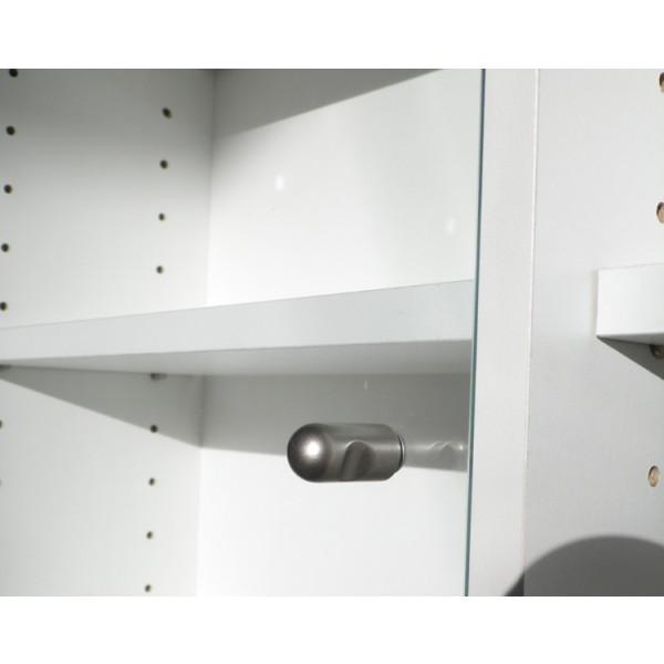 Uma Porta de Vidro para o produto Estante Porta CD/DVD/Blu-ray