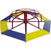 Playground de Ferro Gira Gira 8 Lugares