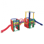 Playground de Plástico Double Home Mix Pass