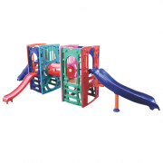 Playground de Plástico Double  Kids Curved