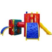 Playground de Plástico Double Max Mix Triangular I