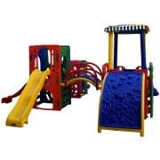 Playground de Plástico Three Home Mix Pass II
