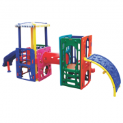 Playground de Plástico Double Home Mount