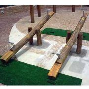 Playground de Madeira Gangorra - Tronco de Eucalipto