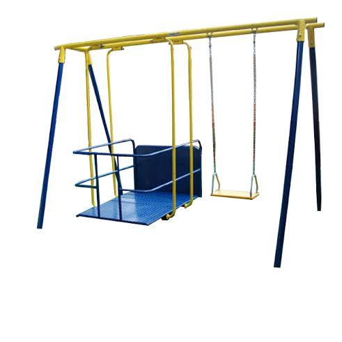 Playground Adaptado Cadeirante Balanço Americano Duplo