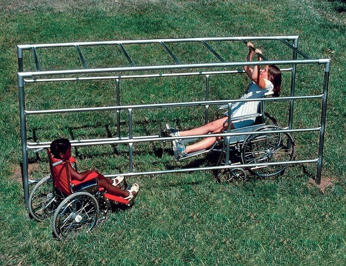 Playground Adaptado Cadeirante Escada Horizontal