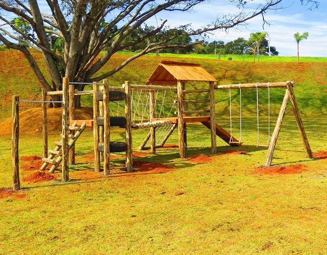 Playground de Madeira Aldeota - Tronco de Eucalipto