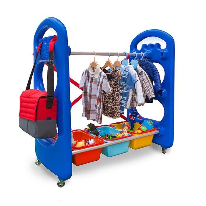 Playground de Plástico Arrumadinho Pequeno com Cesto + Cabideiro