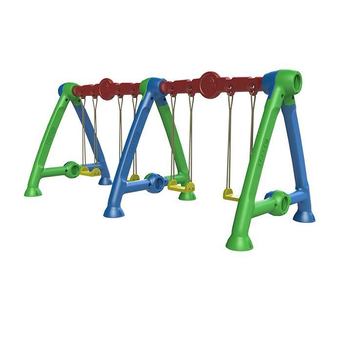 Playground de Plástico Balanço Lado a Lado Duplo