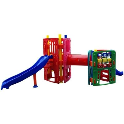 Playground de Plástico Double Max Mix Triangular Curved II