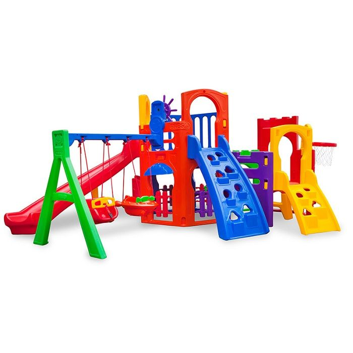 Playground de Plástico Multiplay Petit  +   Play House + Kit Fly Duplo