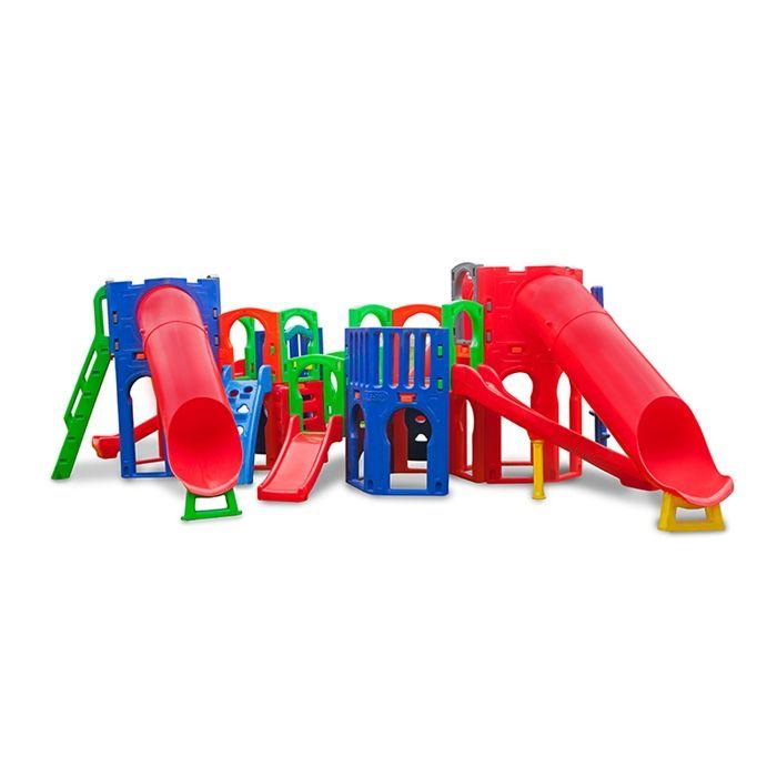 Playground de Plástico Supremo Plus com 2 tubos
