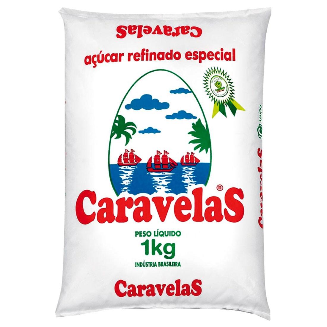 Açúcar Refinado Caravelas Pacote 1kg