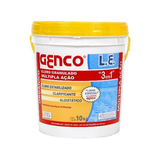 Cloro Granulado L.E. Multi Ação 3 em 1 Genco - 10 Kg