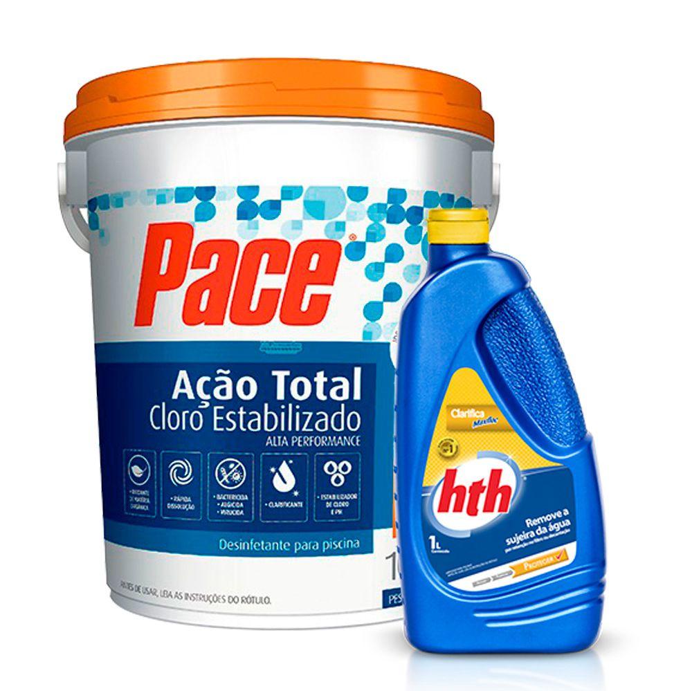 Combo 1 Cloro Pace 7 em 1 10Kg + 1 Max Floc 1L