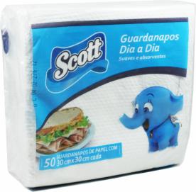 Guardanapo Grande Folha Simples Scott 29x30