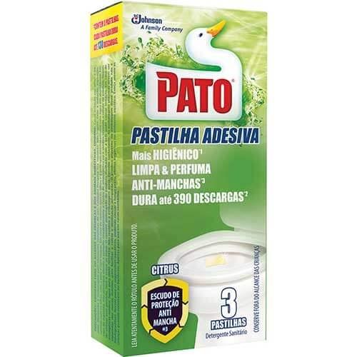 Pastilha Adesiva Sanitária Pato Citrus