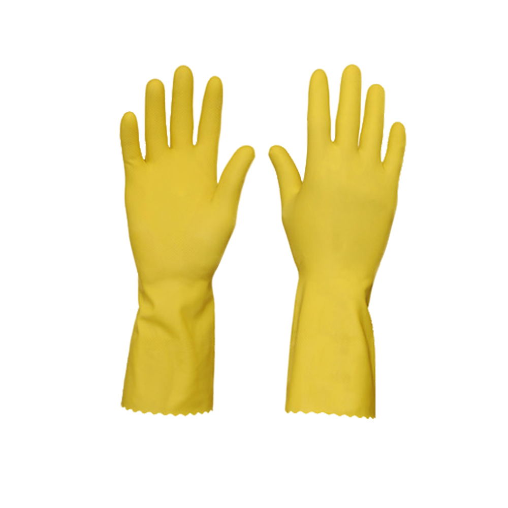Luva para Limpeza Amarela Top M