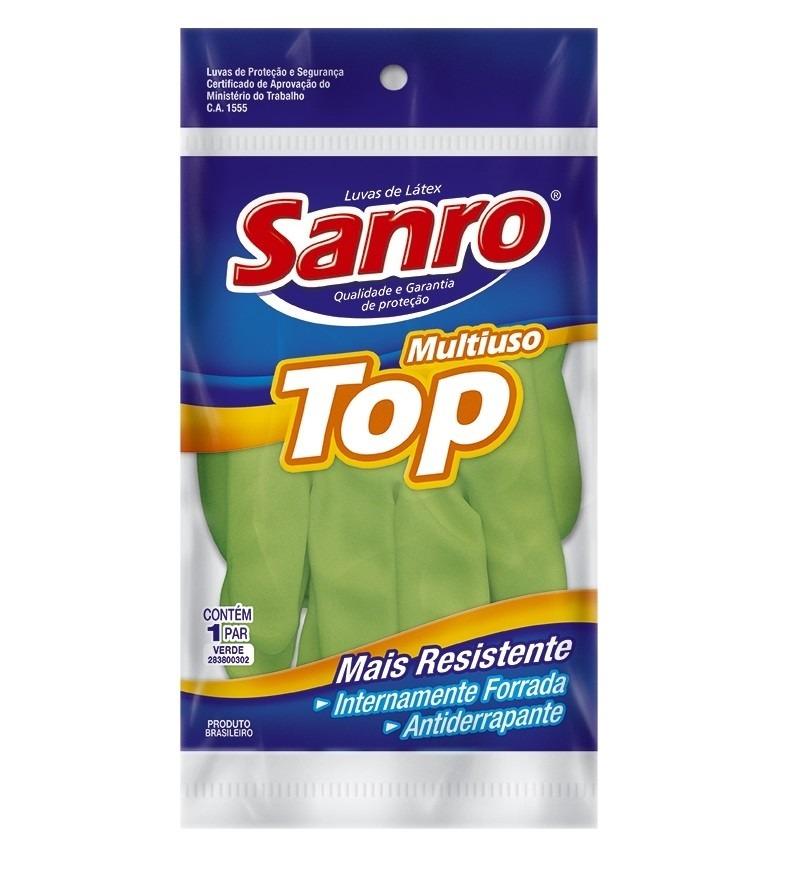Luva para Limpeza Verde Top P Forrada