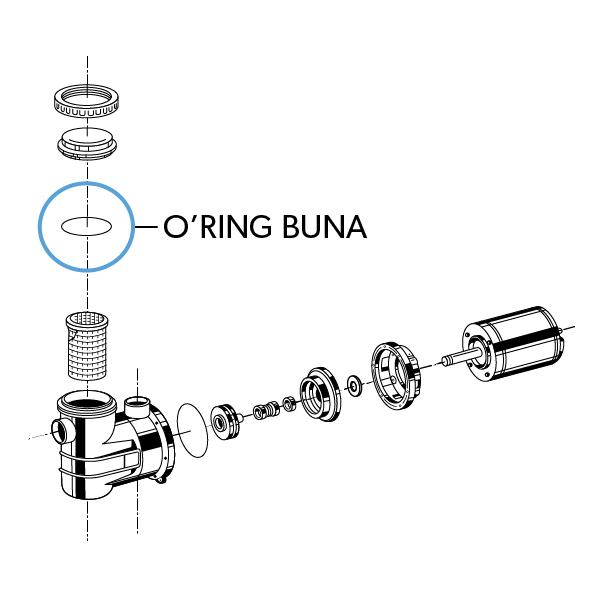 O'ring Buna 'A' Tampa do Pré Filtro