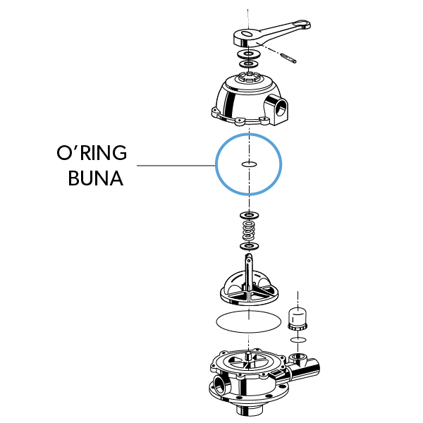 O'ring Buna N 1/8X1