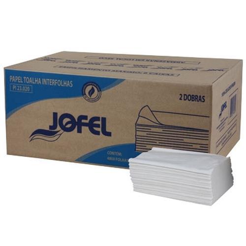 Papel Interfolha 2D Folha Dupla com 2000 Jofel