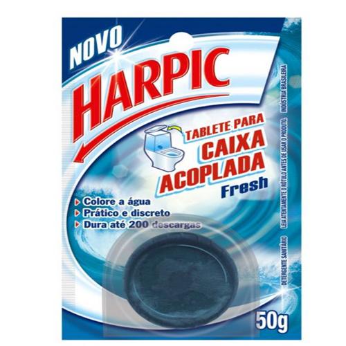 Pedra Sanitária Caixa Acoplada Harpic Azul Fresh