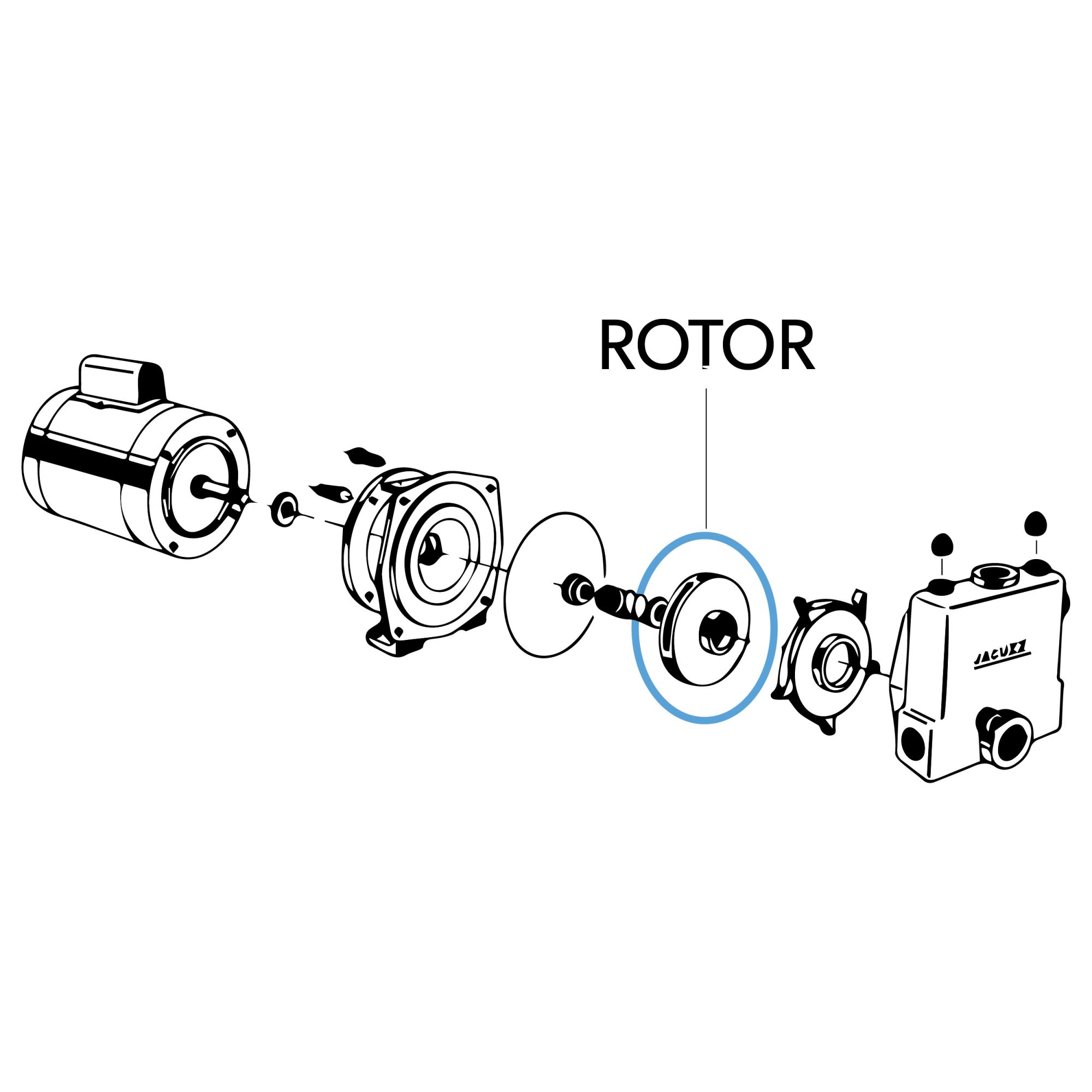 "Rotor ""7C"" 2794-5 4.27/32X1.25 Noryl"