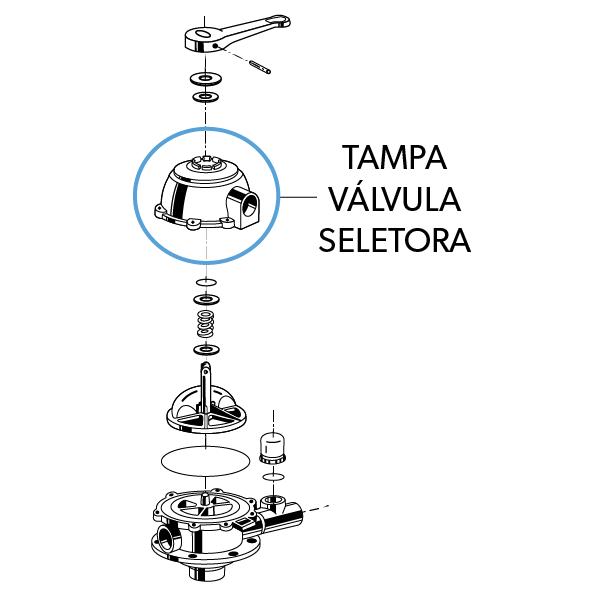 Tampa da Válvula Seletora CF/FIT/TP VS6TP15