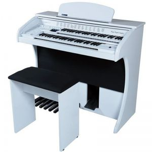 Órgão Acordes Série Gold Ax100 Branco - 49 Teclas