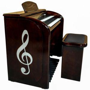 Órgão Eletrônico Digital Acordes - AX 100 Top Elegance Imbuia - 61 Teclas