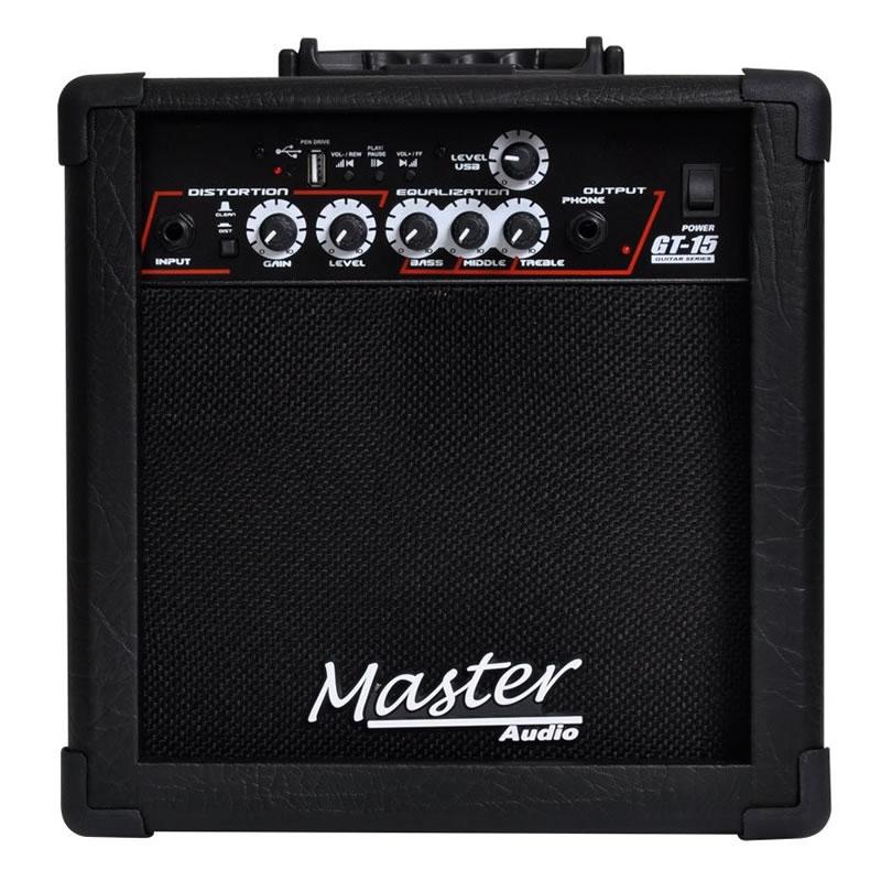 AMPLIFICADOR GUITARRA MASTER GT15 USB 6