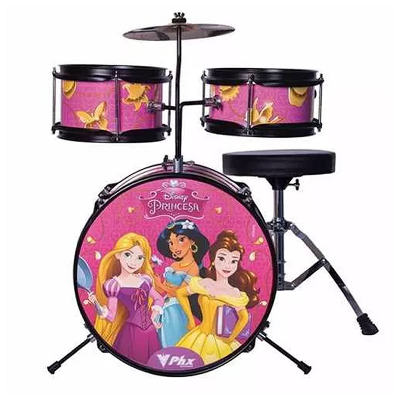 BATERIA PHX INFANTIL PERSONAGENS - PRINCESAS DISNEY