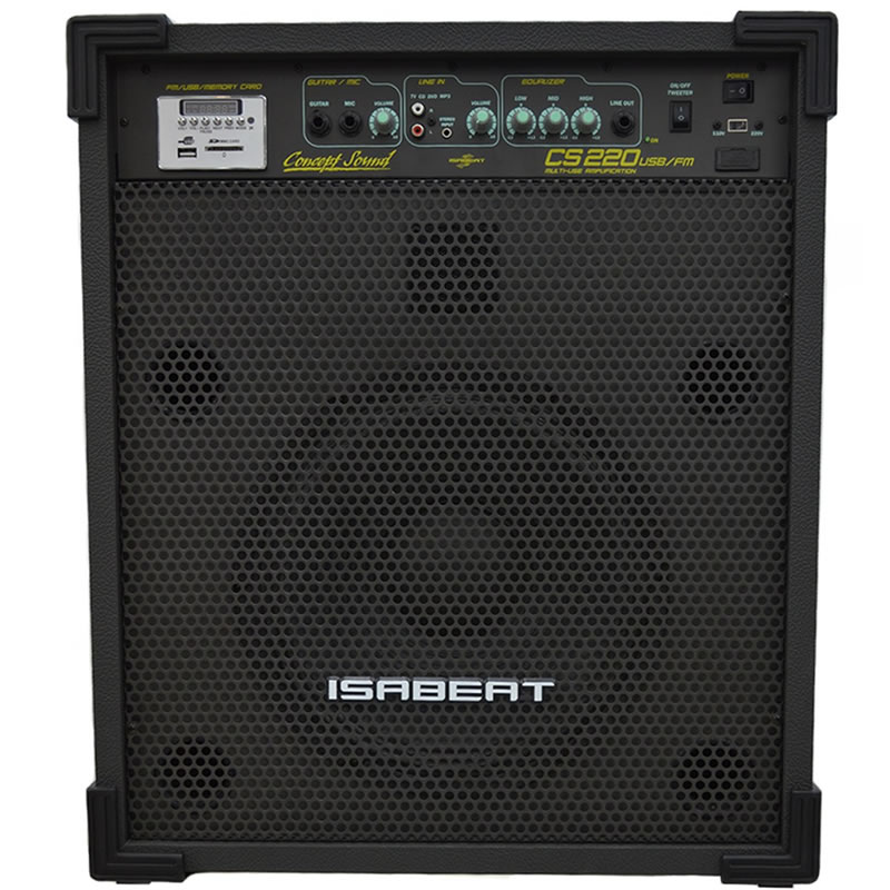 CAIXA ISABEAT CS220 USB/FM ATIVA