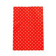 Saco de Presente Metalizado - 25x35cm - Poa 1 - Vermelho (PCT 50 unid)