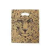 Sacola plástica Boca de Palhaço Estampada - Tigre Dourado/Prt - 30x40cm - Pacote 54 unid (1 KG)